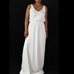 Show Me Your Mumu Kendall Maxi Dress White Size Small