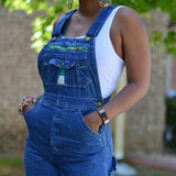 Vintage Liberty Bib Overalls Jeans Jumpsuit Size 27 Small