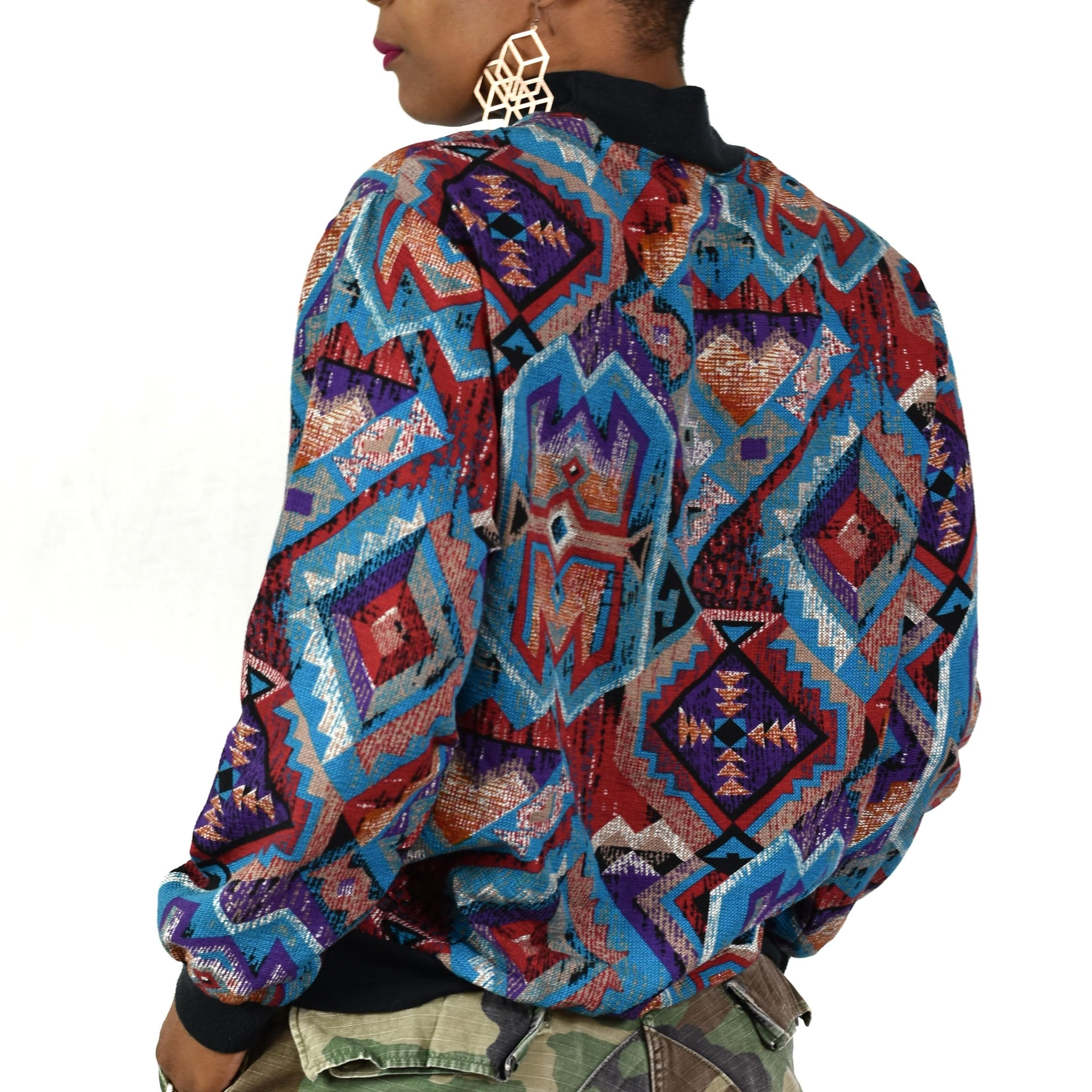 Vintage Aztec 80s 90s Top Size Small