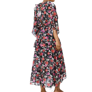 Talulah Midi Dress Jet Rose Floral Size Small