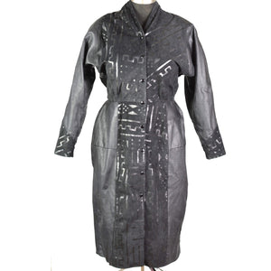 Vintage Leather Dress Snap Button Front CST Collection Size Large