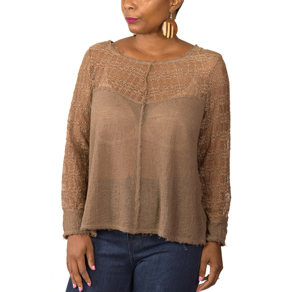 Intimately Free People Sheer Top Size Large