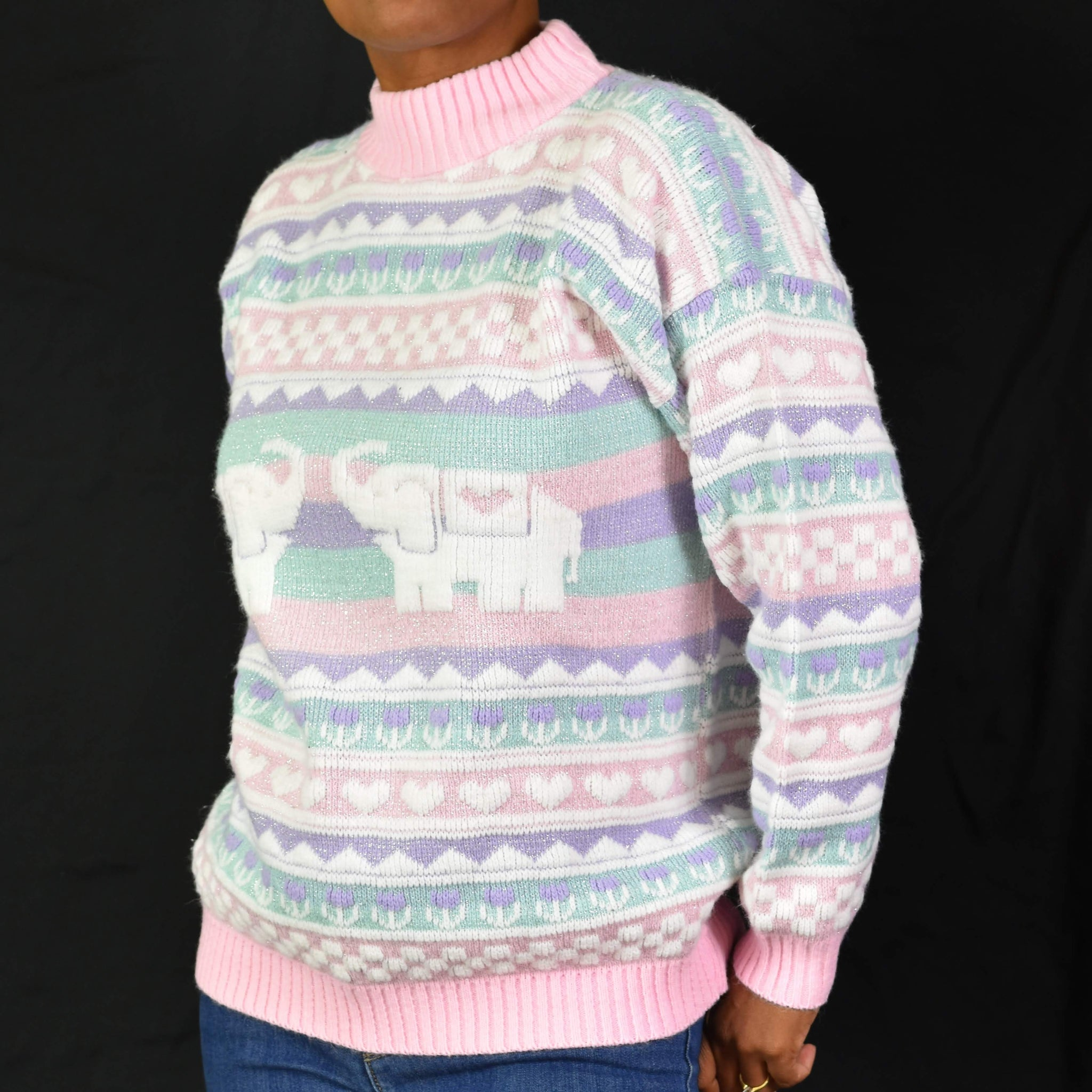 Vintage 80s Pastel Sweater Size Small