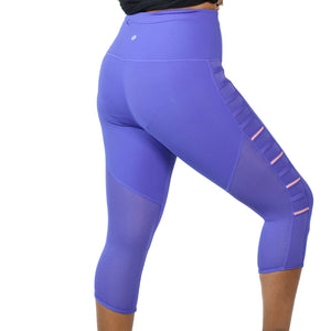 Lululemon Breezy Crop Leggings Purple Iris Size 4