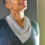 Vintage Mesh Scarf Bib Necklace