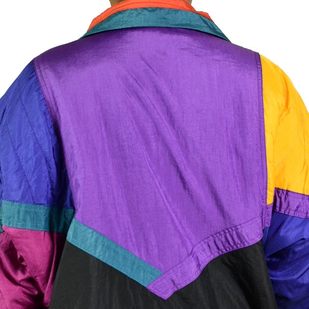 Vintage Equipt Winter Colorblock Ski Jacket Size XL