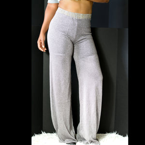 Cobblestone Palazzo Pants High Waist Lounge Pull On Size Small