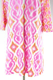 Gretchen Scott Dress Pink Swing Ikat Size XXL