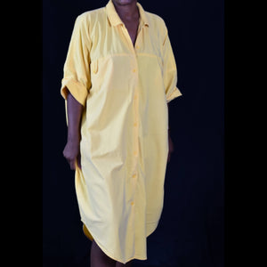 Vintage Cotton Castle Shirtdress Oversized Dress Size Medium