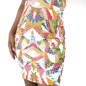 Nicole Miller Artelier Origami Pineapple Sheath Dress Size 2