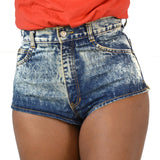 Vintage Wedgie Short Shorts High Rise Vintage Era Jeans Hot Pants Size 27