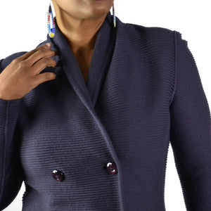 Armani Collezioni Double Breasted Wool Sweater Size 8