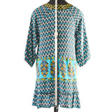 Tolani Dress Ginger Boho Silk Print Tunic Top Size XS