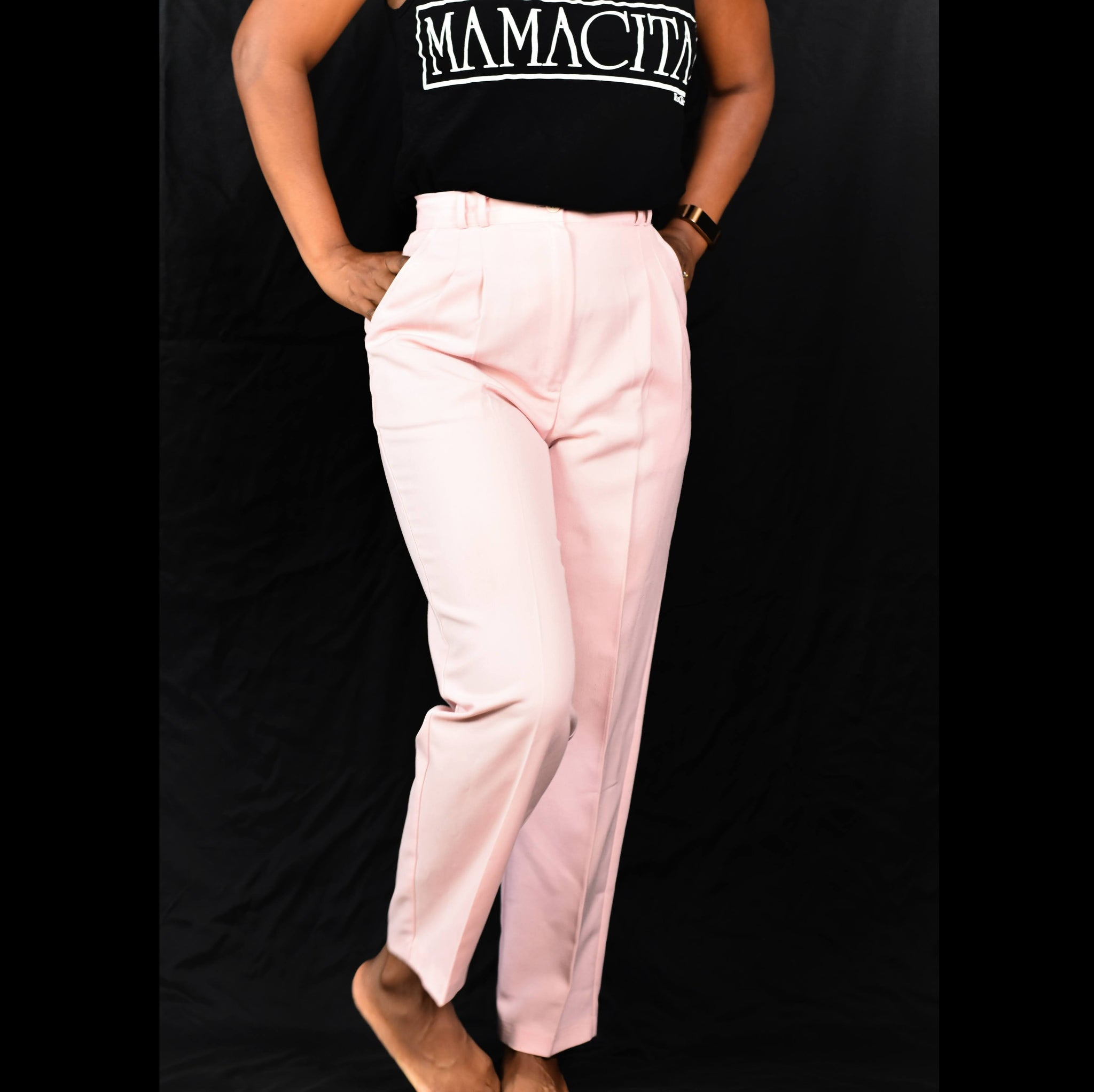 Vintage Pink Pants Trousers Counterparts Petites Size 27 2 4 Small