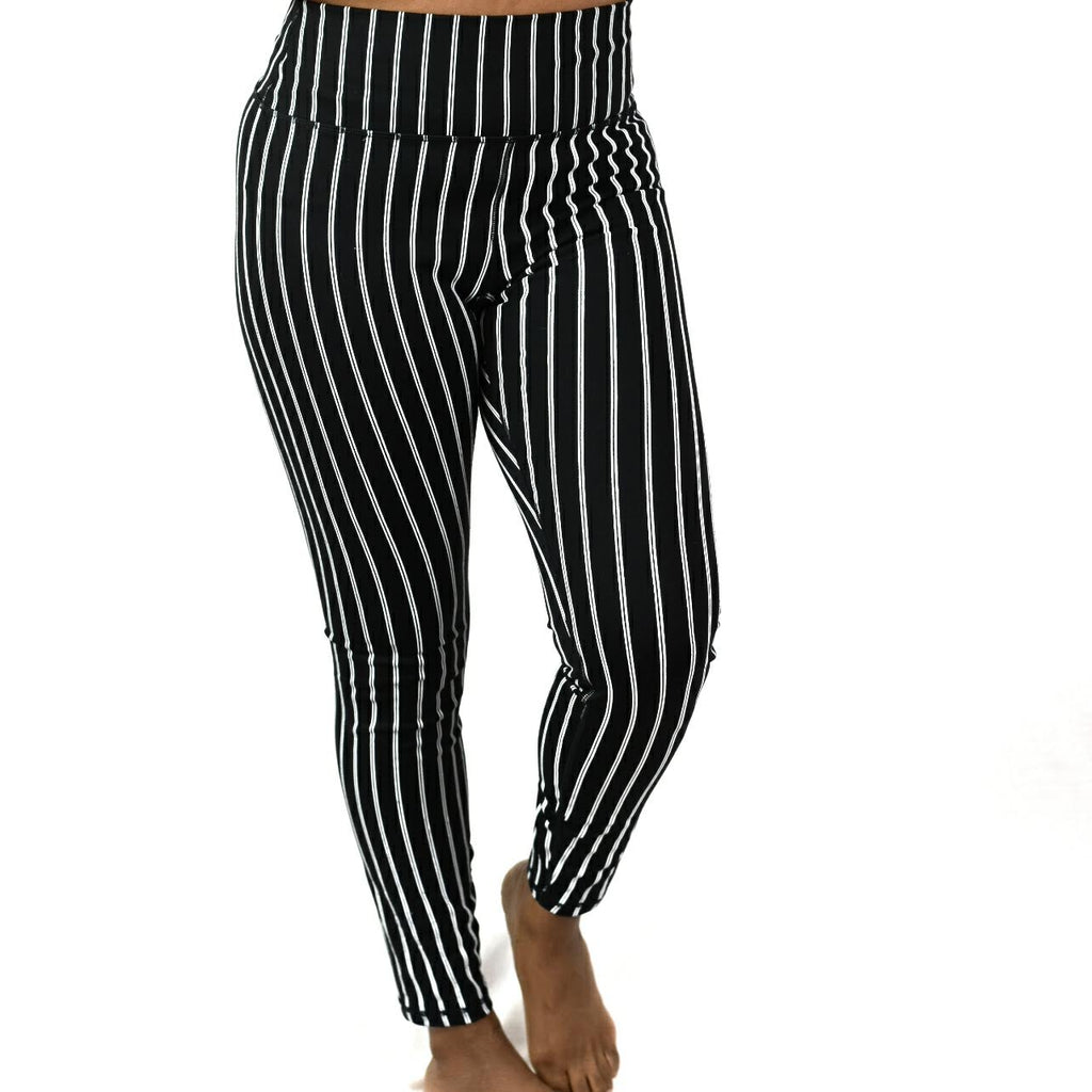 Spiritual Gangster Pinstripe Leggings Size Large