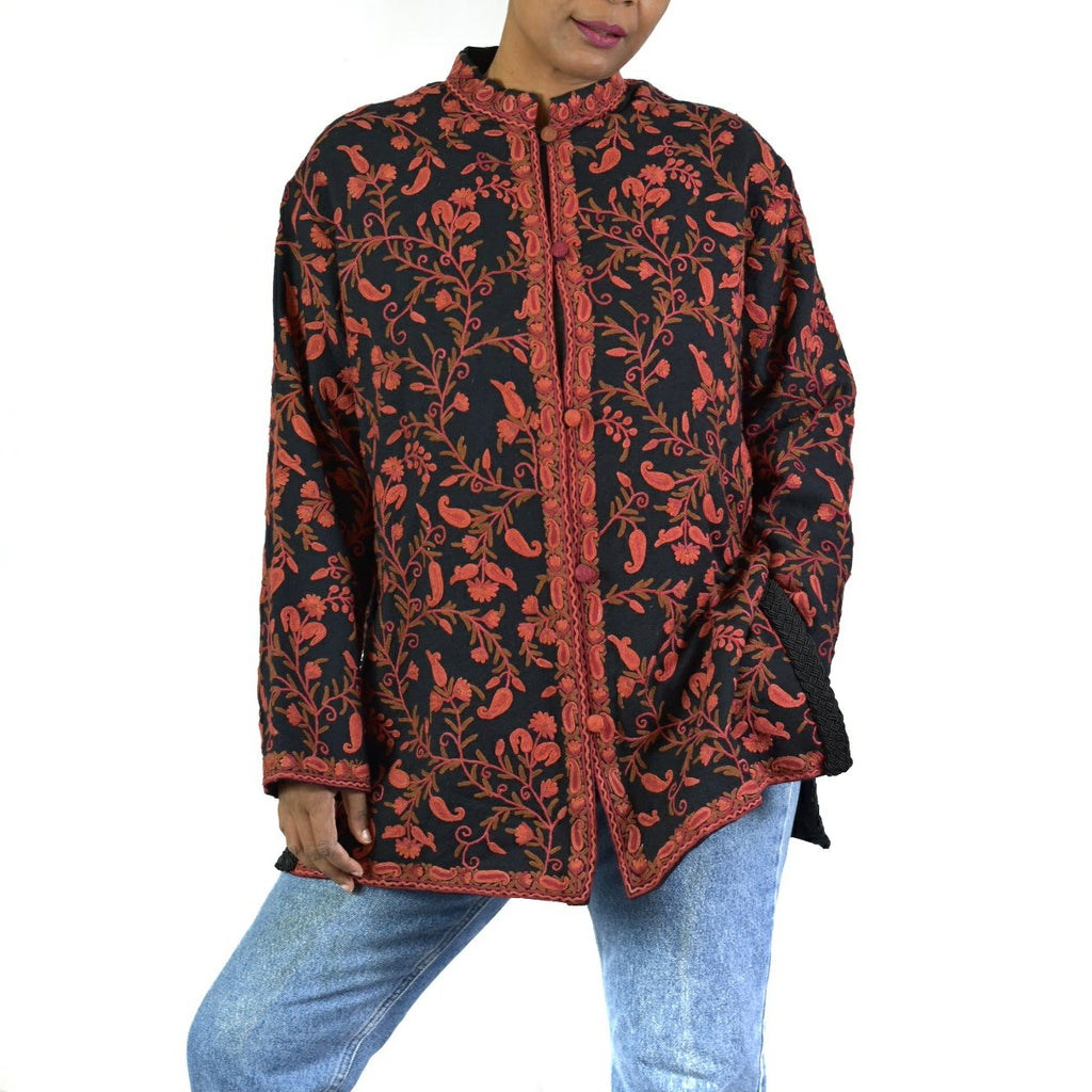 Kashmiri Embroidered Jacket Size Medium