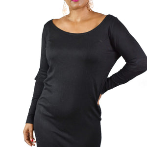 COS Black Sweater Dress Size Large