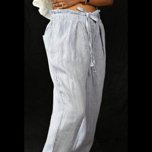 Free People Only Over You linen trousers paperbag waist pants Size Small