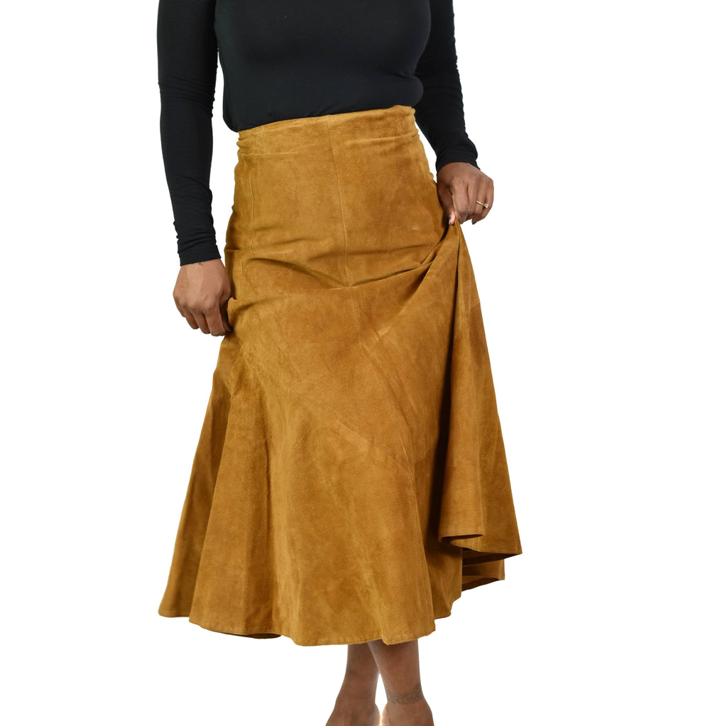 Vintage Wilsons Suede Skirt Size XS