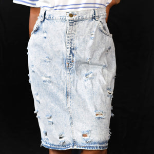 Vintage No Excuses Denim Jean Skirt Size Large