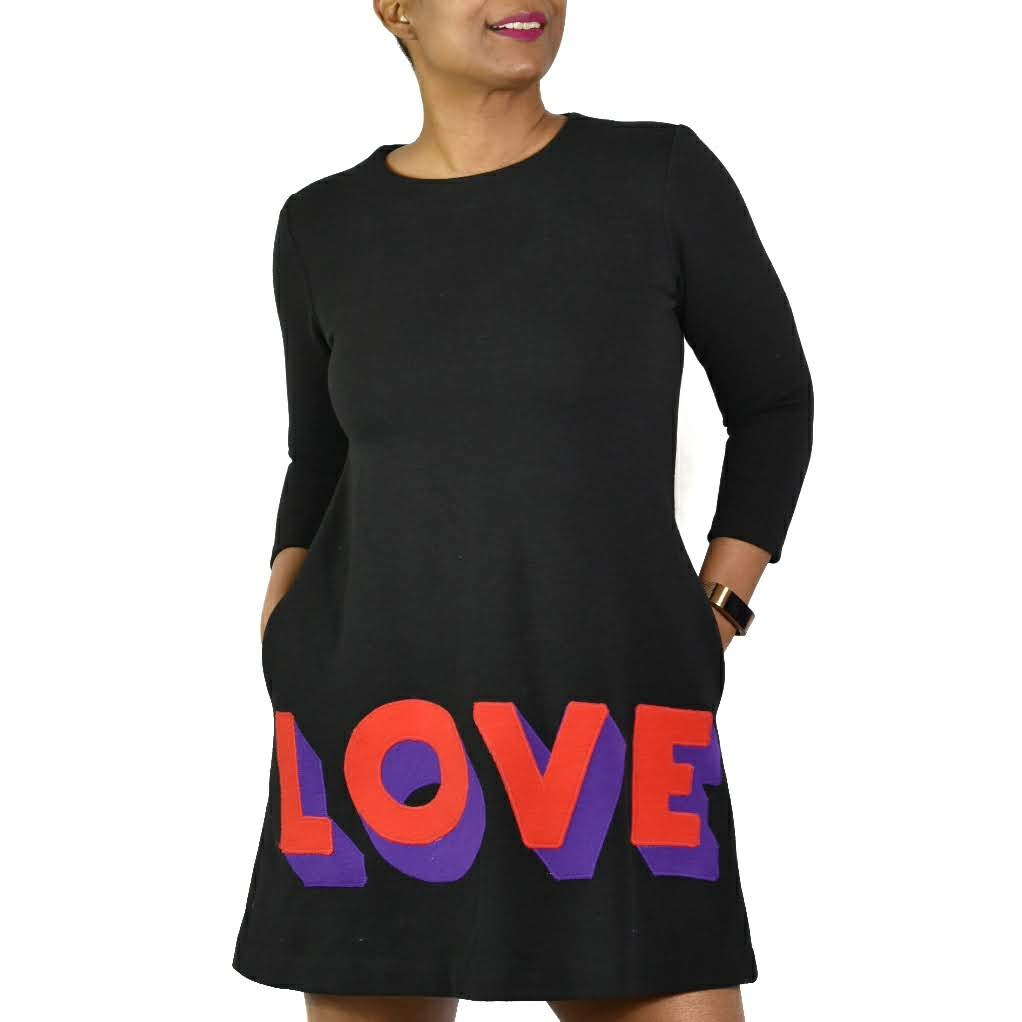 Lisa Perry Love Wool Shift Dress Size 0