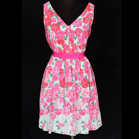 Vineyard Vines Run for the Roses Dress Kentucky Derby Size 00