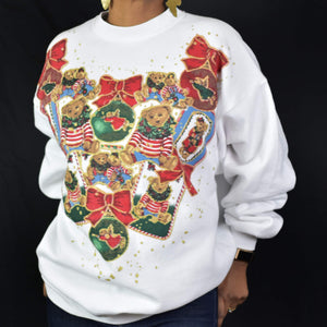 Vintage Ugly Christmas Sweatshirt Size Medium