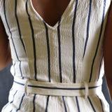 Madewell Striped Pull On Marta Jumpsuit Size XS