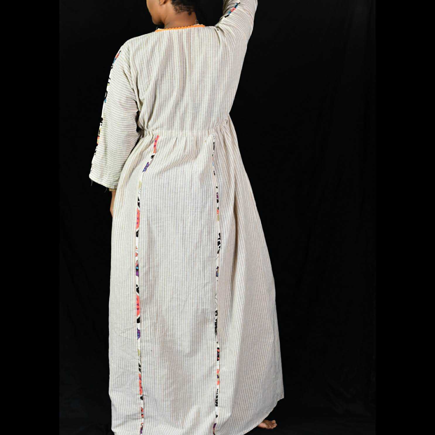 Vintage Kaftan Maxi Dress Size XL