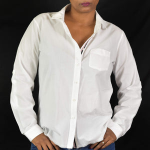 Stateside White Button Down Shirt Size Small