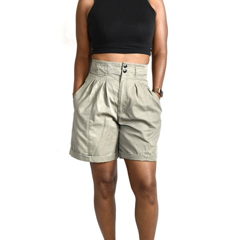 High Rise Pleated Vintage Mom Shorts Size 4