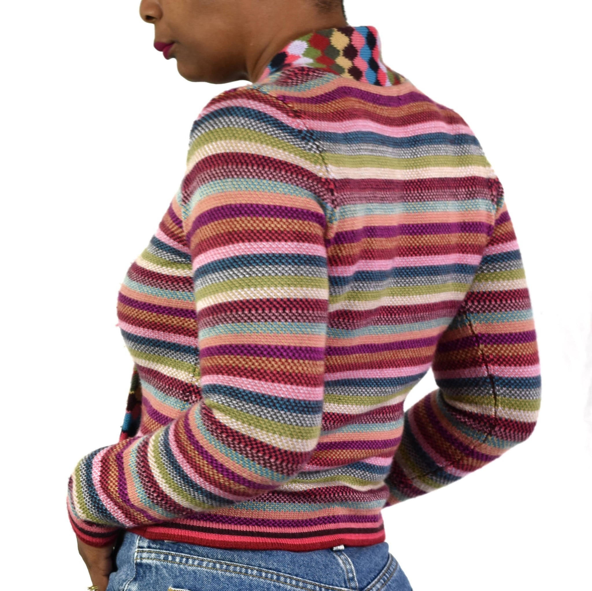 Cacharel Rainbow Stripe Sweater Size Small