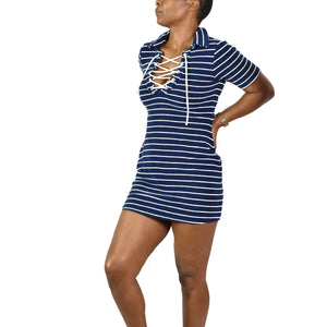 Solid & Striped Polo Sailor Dress Size XS