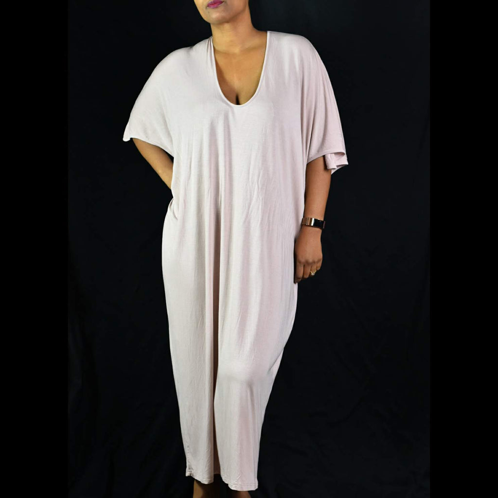 Barefoot Dreams Luxe Milk Jersey Caftan Dress