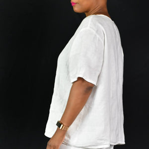 Flax White Top Size Large