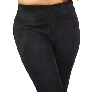 Gretchen Scott Black Microsuede Pants Size XS