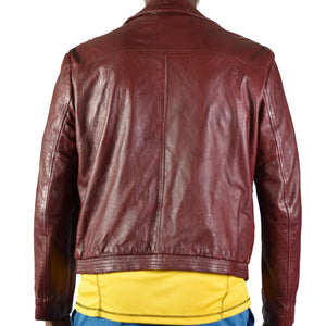 Vintage Leather Bomber Jacket Size 44 Mens
