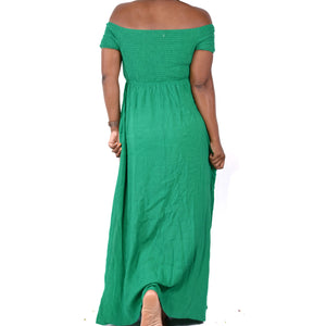 Gilli Maxi Dress Green Side Split Size Medium