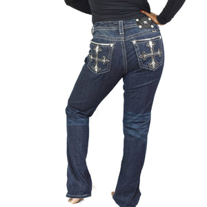 Miss Me Jeans JE8249E2R Boot Cut Cross Sequins 29