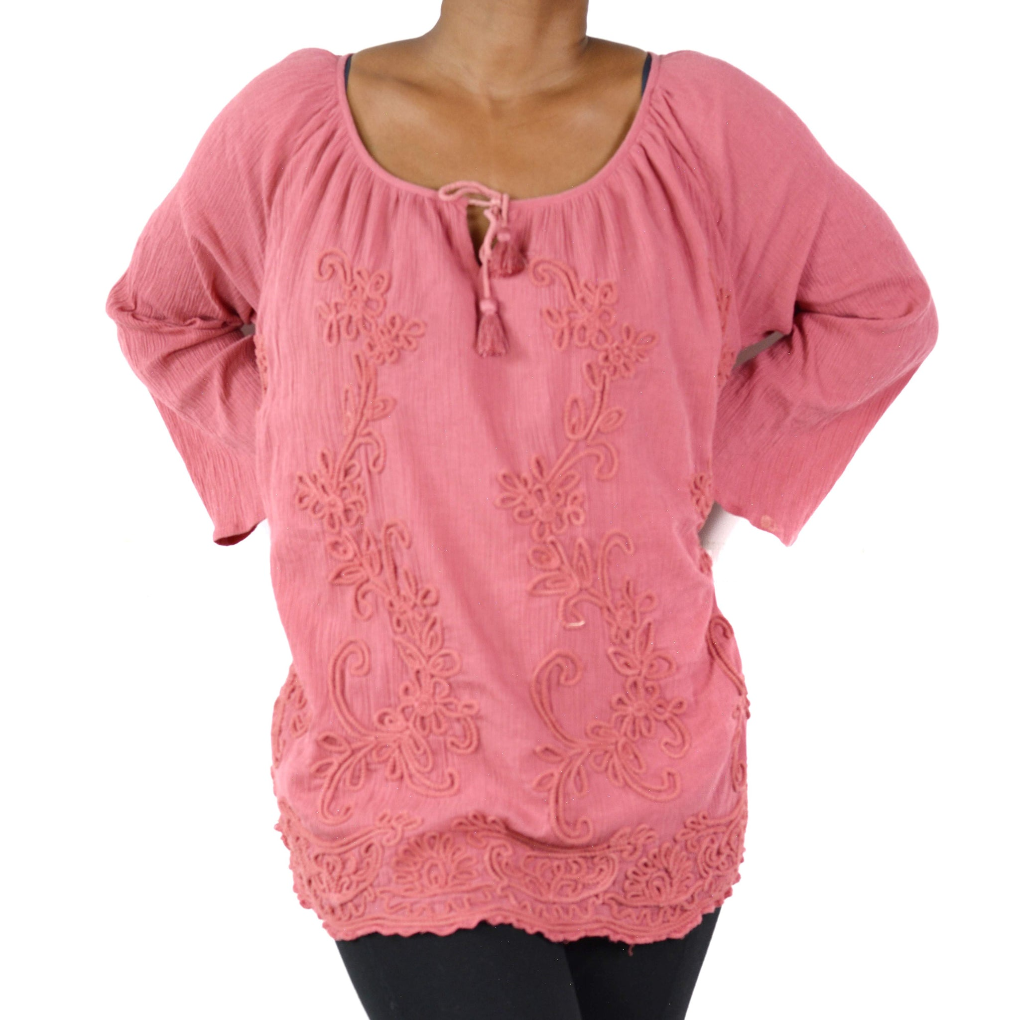 Soft Surroundings Winding Vines Tunic Top Size Large