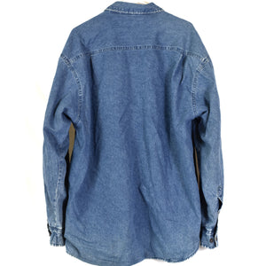 Vintage Denim Fleece Lined Shirt Size XL