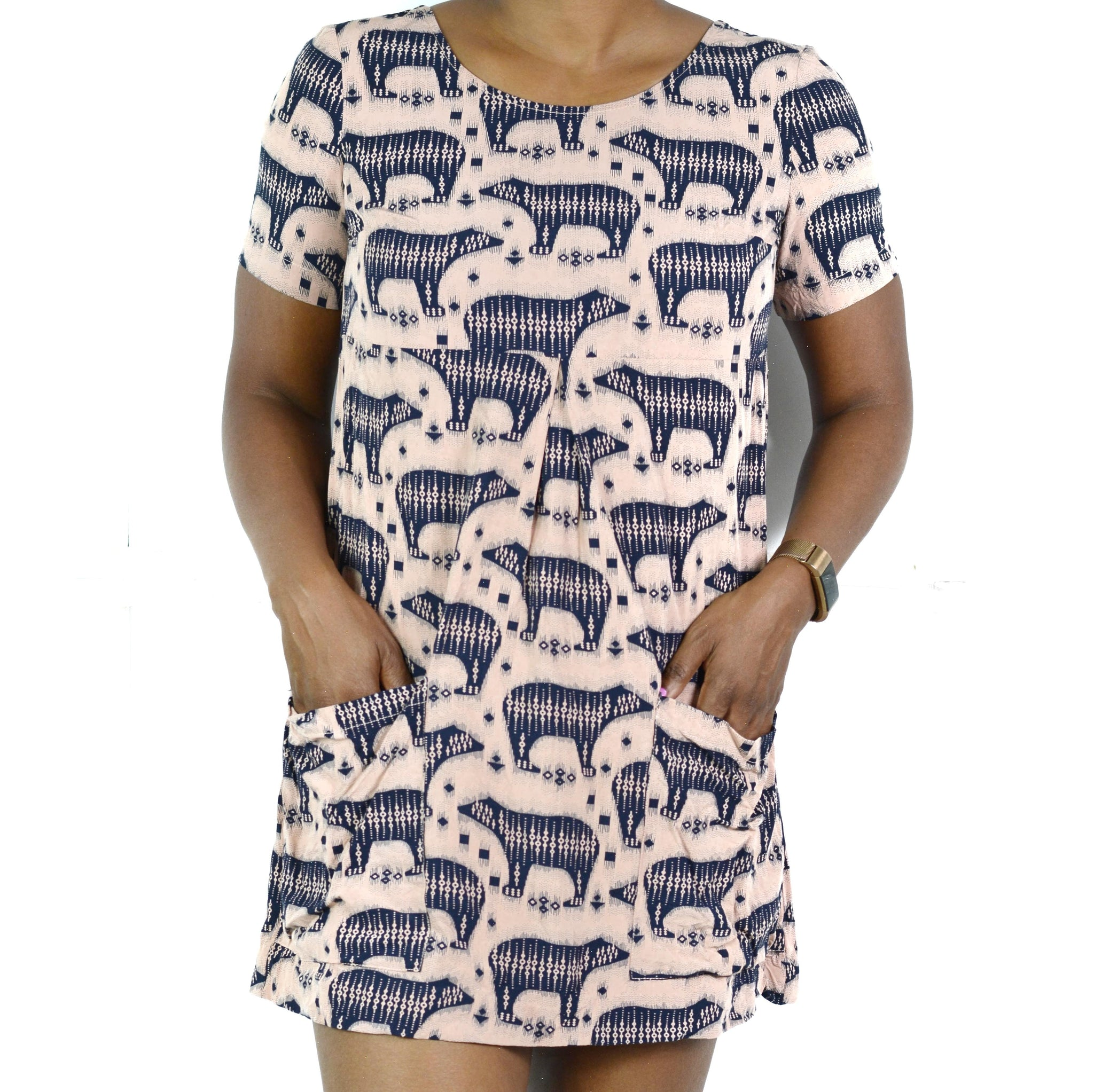 Maeve Zola Dress Polar Bear Anthropologie Size 2P Petite
