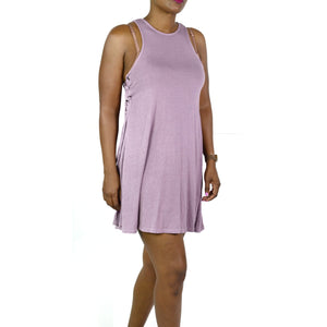 AEO Jersey Dress Side Ties Purple Trapeze Size XS