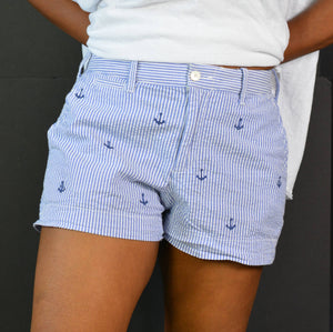 Polo Stripe Short Ralph Lauren Anchor Seersucker Size 2