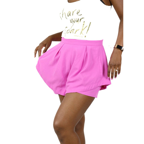 Pink Layered Shorts High Rise Do+Be Size Small