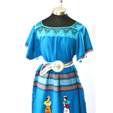 Vintage Embroidered Guatemalan Caftan Dress