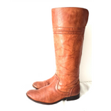 Frye Melissa Trapunto Brown Leather Boots