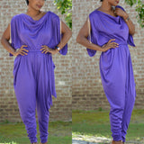 Vintage Purple Jumpsuit Romper