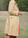 Fleet Street Vintage Khaki Trench Coat Size Small