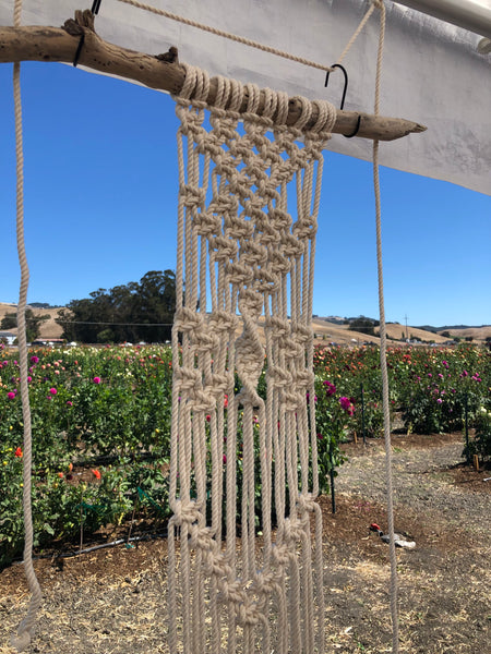 Intuitive Macramé Workshop at AZTEC DAHLIAS